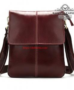 Túi đeo chéo da bò MARRANT – BHM8006D màu đỏ mận