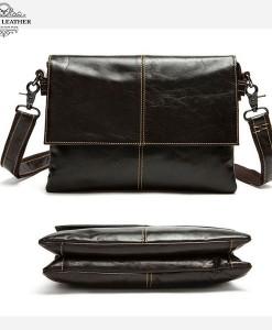 Túi da bò dáng ngang - BHM9007