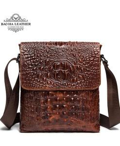 Túi đeo chéo vân cá sấu - BHM9881N màu Nâu