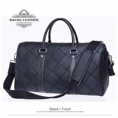 Túi trống da bò -BHM8883D màu đen