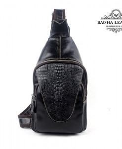 Túi đeo ngực nam da bò - BHM8082D