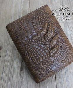 Ví da bò dập vân cá sấu - BHM3122 - Vân tay cá sấu