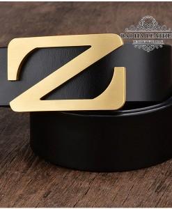 Dây lưng da bò khóa bấm chữ Z - BH211D