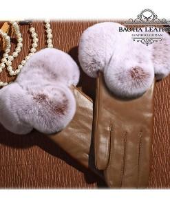 Găng tay da cừu nữ cao cấp - BH6601 màu Nâu