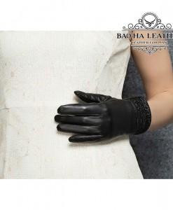 Găng tay nữ da cừu - BHY8700 Nhẹ nhàng nữ tính