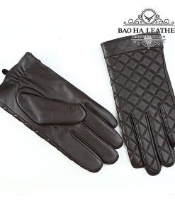 Găng tay nam da dê cao cấp - BH6608 màu Nâu