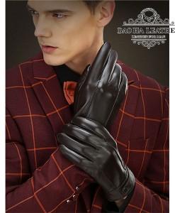 Găng tay da dê nam - BH6613 màu Nâu