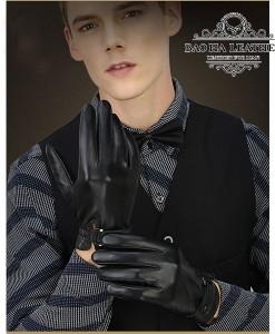 Găng tay da dê nam cao cấp - BH6609 màu Đen