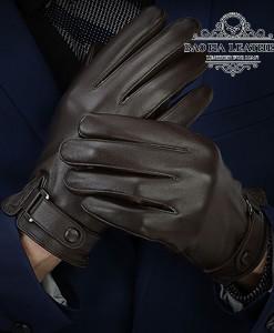 Găng tay da dê nam cao cấp - BH6609 màu Nâu