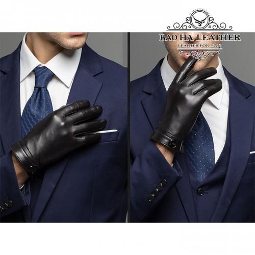Găng tay da dê nam cao cấp - BHY8101 cực sang  xịn