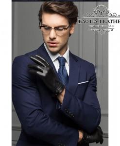 Găng tay da dê nam cao cấp - BHY8101
