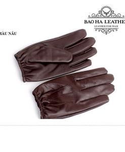 Găng tay nam da cừu - BHM6225D màu Nâu