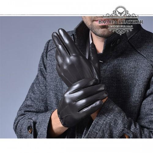 Găng tay nam da cừu - BHM6225 lót lông