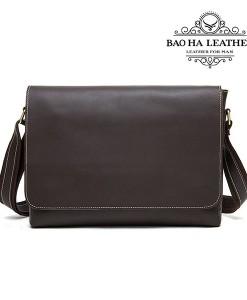 Túi da đeo chéo nam - BHM1136 màu cà phê