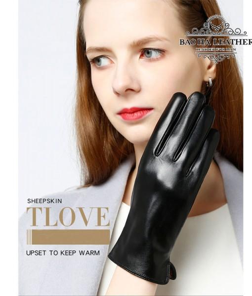 Găng tay cảm ứng nữ đơn giản - BH6737 (2)