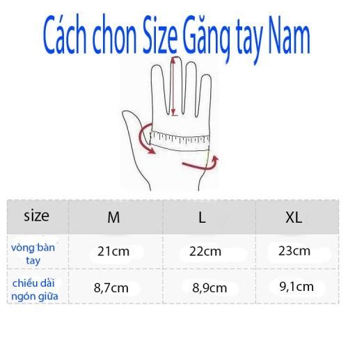 Cách chọn size găng tay da nam