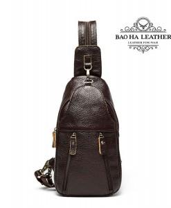 Túi da bò đeo ngực nam phong cách - BHM9104