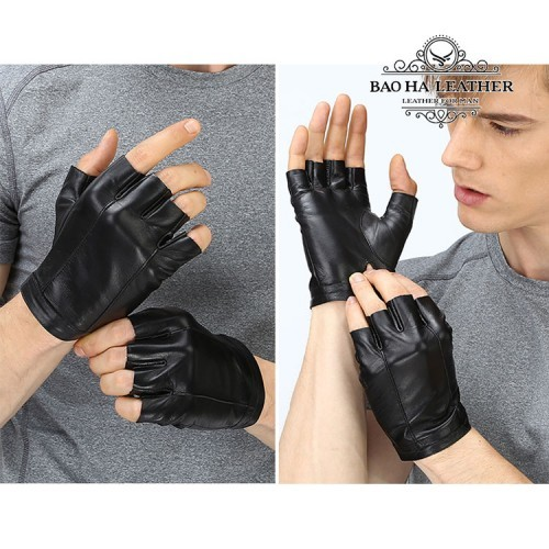 Găng tay da nam hở ngón - BH6606