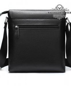 Túi ipad da bò - BHM8957 - Mặt sau túi có thêm 1 ngăn khóa kéo