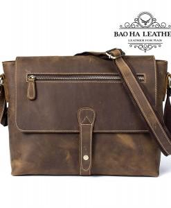 Túi da sáp đeo chéo dáng ngang - BHM8116
