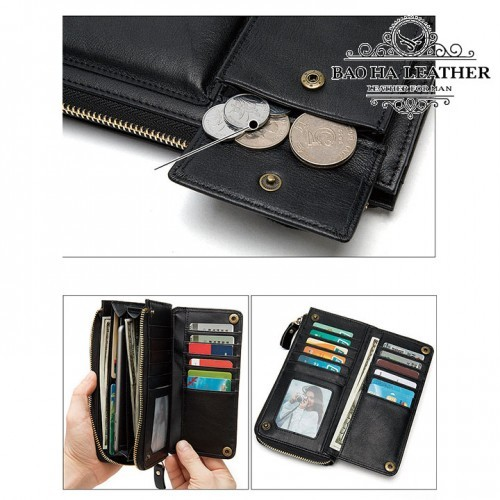 Thoải mái để tiền mặt, thẻ card, điện thoại, tiền xu...