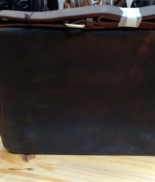 Túi da bò sáp thô đeo chéo nam dáng ngang - BHS02