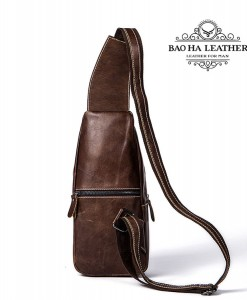 Túi đeo ngực da bò nam - BHM1216C