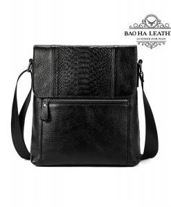 Túi đeo chéo nam vân cá sấu - BHM7835 màu Đen (11)