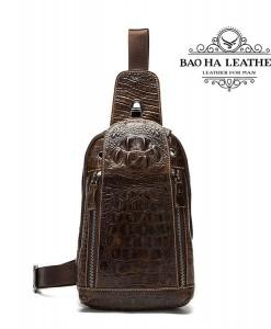 Túi đeo ngực vân cá sấu - BHM1311