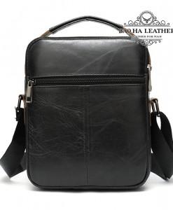 Túi da đeo chéo nam da thật nhỏ gọn - BHM8211D - Mắt sau túi đeo chéo