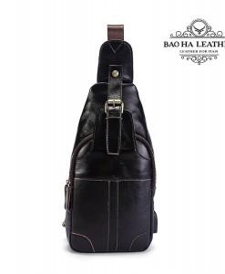Túi ngực nam da bò - BHM8202C Màu cà phê