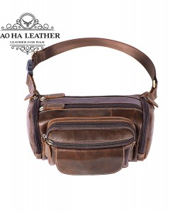 Túi da đeo bụng nam - BHM8355