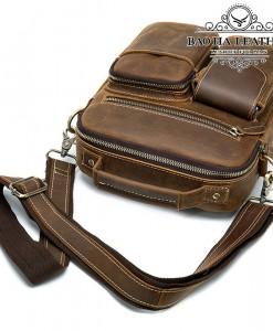 Túi da đeo chéo nam da bò sáp - BHM3552