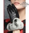 Găng tay da cừu cổ lông cao cấp BHY8582 - Rất sang chảnh với chất liệu da cừu và cổ lông cao cấp