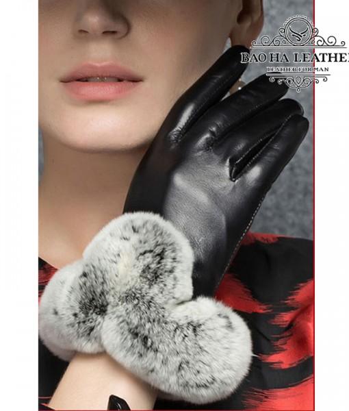 Găng tay da cừu cổ lông cao cấp BHY8582 (4)