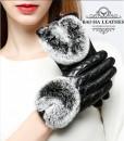 Cổ găng tay viền lông thỏ mềm mại, không bong rụng, độ bền cao