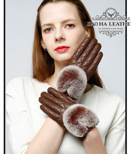 Găng tay da cừu nữ trần trám cao cấp BH6746 (4)