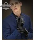 Găng tay da thật cao cấp BH6266  Màu Đen