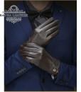 Găng tay da thật cao cấp BH6266 - Màu Nâu sang trọng