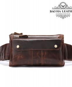Túi đeo bụng da bò BHM8398C