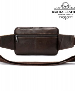 Túi bao tử nam BHM8977- Phía sau túi thêm 1 ngăn khóa kéo nhỏ