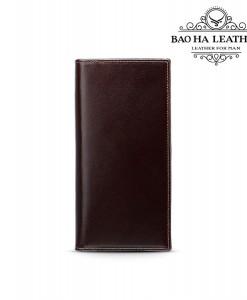 Ví dài gập đôi da bò nguyên tấm - BH8011