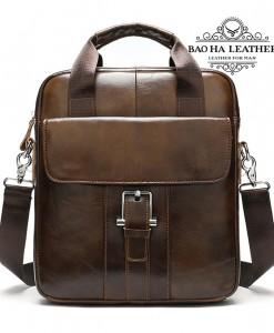 Túi đeo chéo vừa khổ giấy A4 - BHM8809 màu Nâu