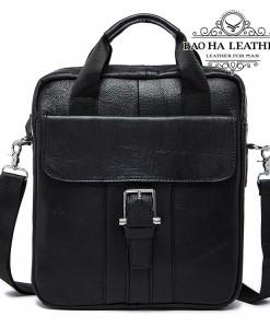 Túi đeo chéo vừa khổ giấy A4 - BHM8809 - Màu Đen