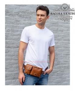 Túi da đeo bụng - BHM9080 Màu Nâu Mới