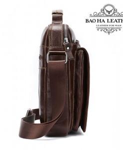 Túi da đeo vai nam - BHM379 với dây đeo chéo bằng dù chắc chắn được gắn liền vào túi