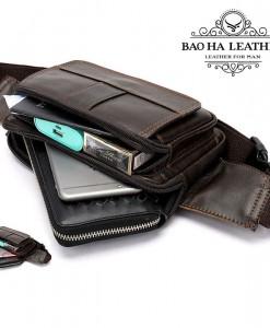 Ngăn chính có thể để điện thoại, ví tiền, bao thuốc, sạc dự phòng....