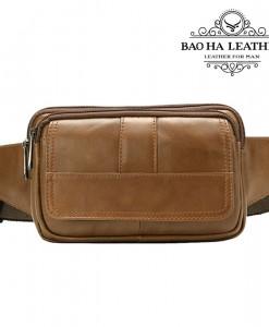 Túi đeo trước bụng nam da bò - BHM8966N