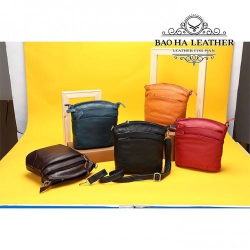 Túi đeo chéo nữ da bò giá rẻ - BHW8363 với 5 màu để bạn chọn