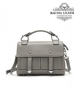 Túi đeo chéo nữ da bò cao cấp BHW288 màu Xám